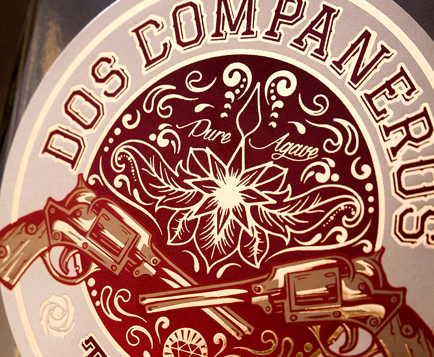 Design of mexican tequila - Dos Companeros