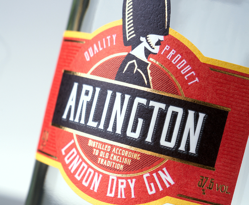 Gin label design - Arlington