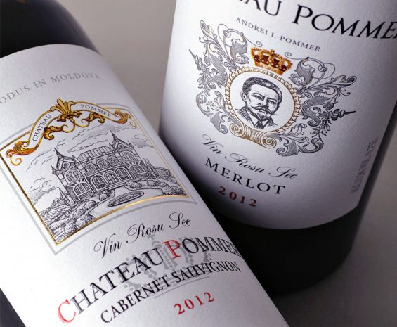 Wine label design - Chateau Pommer
