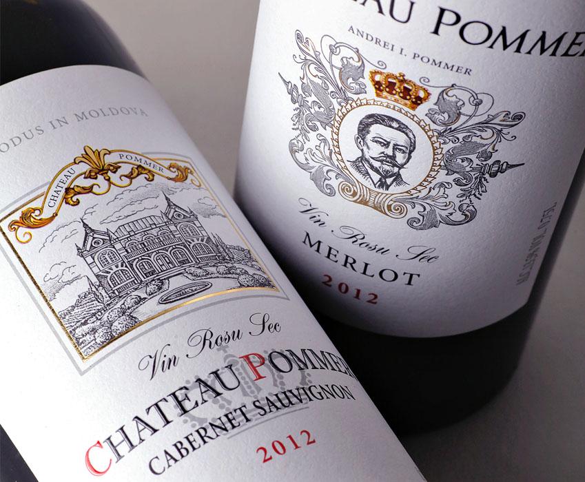 Wine label design - Chateau Pommer