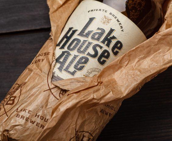 Craft beer label design - Lake House Ale