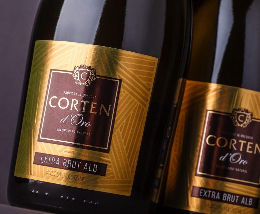 Sparkling Wine Packaging Design - Corten D'Oro