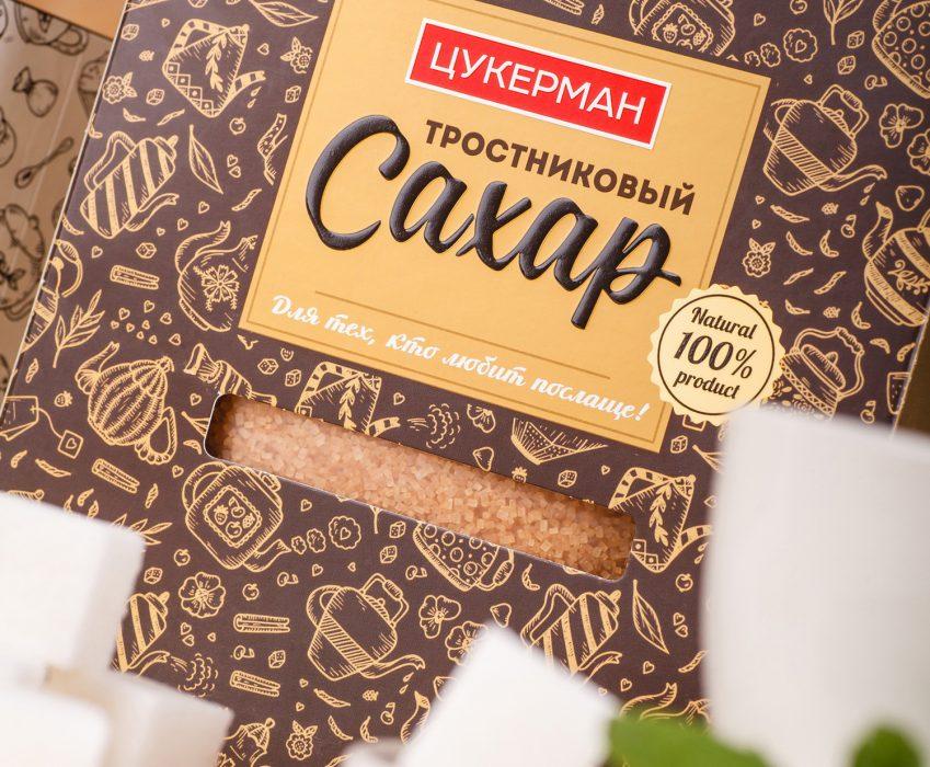 Разработка ТМ и Дизайна Упаковки Столового Сахара - Цукерман