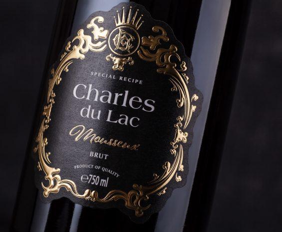 Sparkling Wine Label Design - Charles du Lac