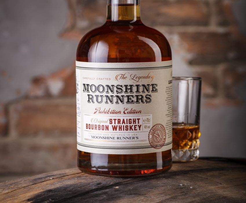 Whiskey Label Design - Moonshine Runners