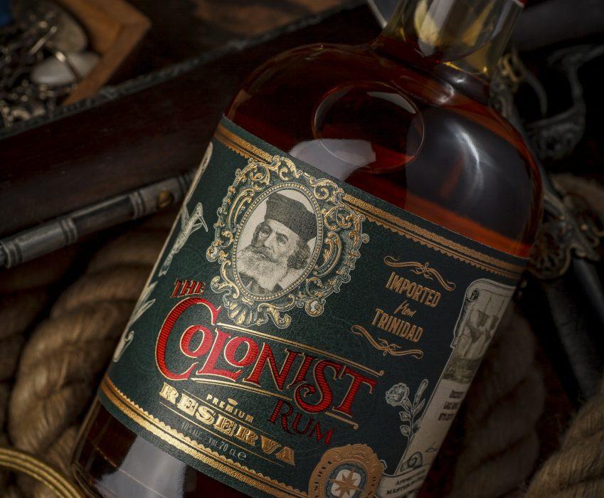 Original Rum Label Design - The Colonist