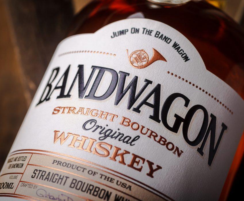 Bourbon Whiskey Label Design - Bandwagon