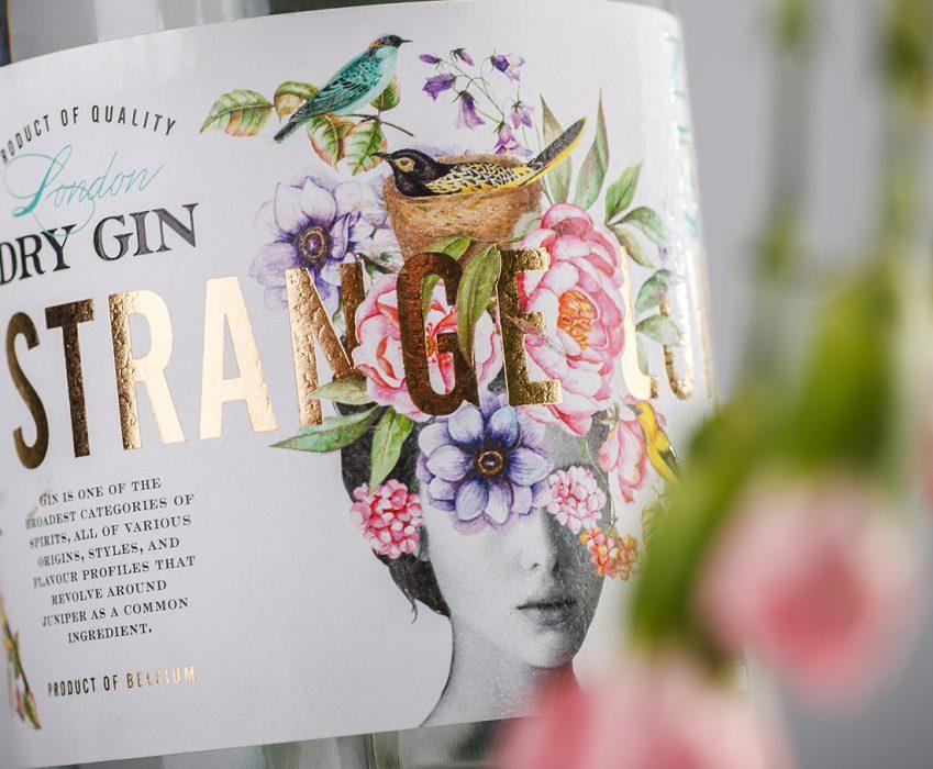 Dry Gin Label Design - Strange Luve