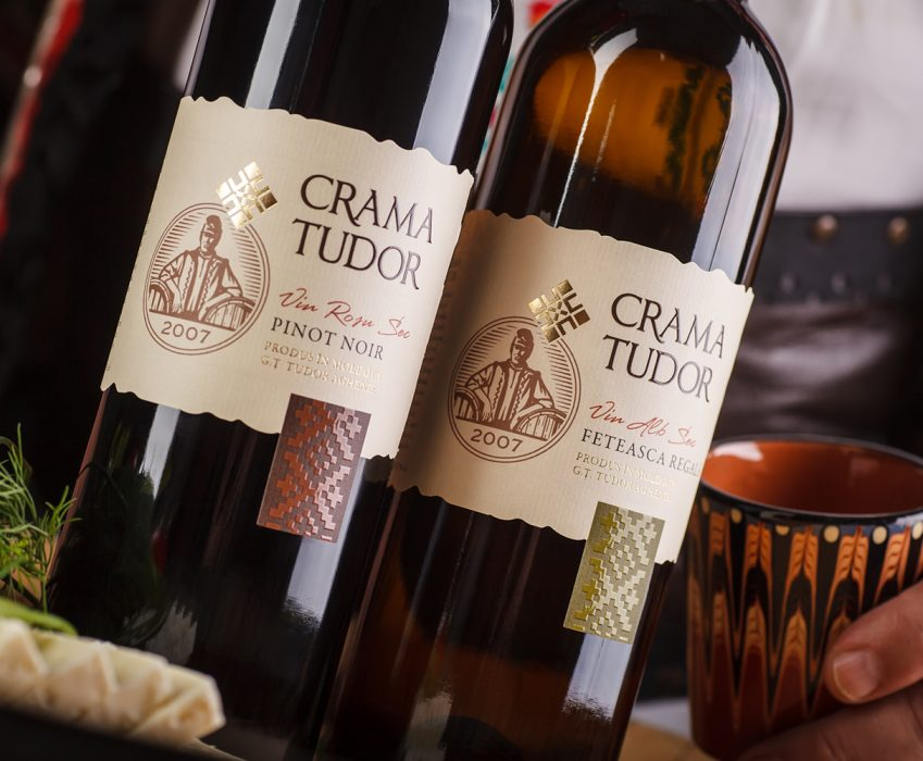 Authentic Wine Label Design - Crama Tudor