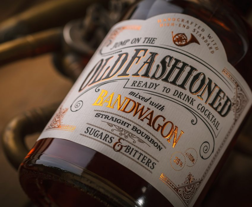 Pre-mixed Coctail Label Design - Old Fashioned