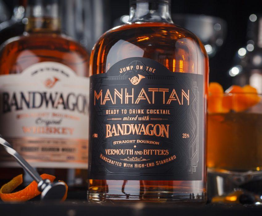 Pre-mixed Cocktail Label Design - Manhattan