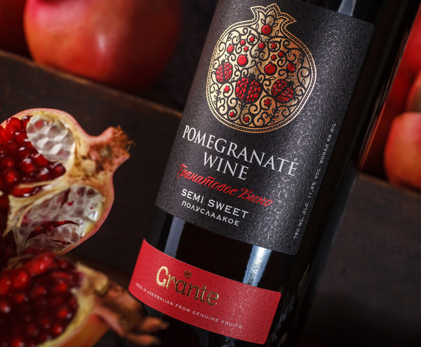 Pomegranate Wine Label Design - Grante
