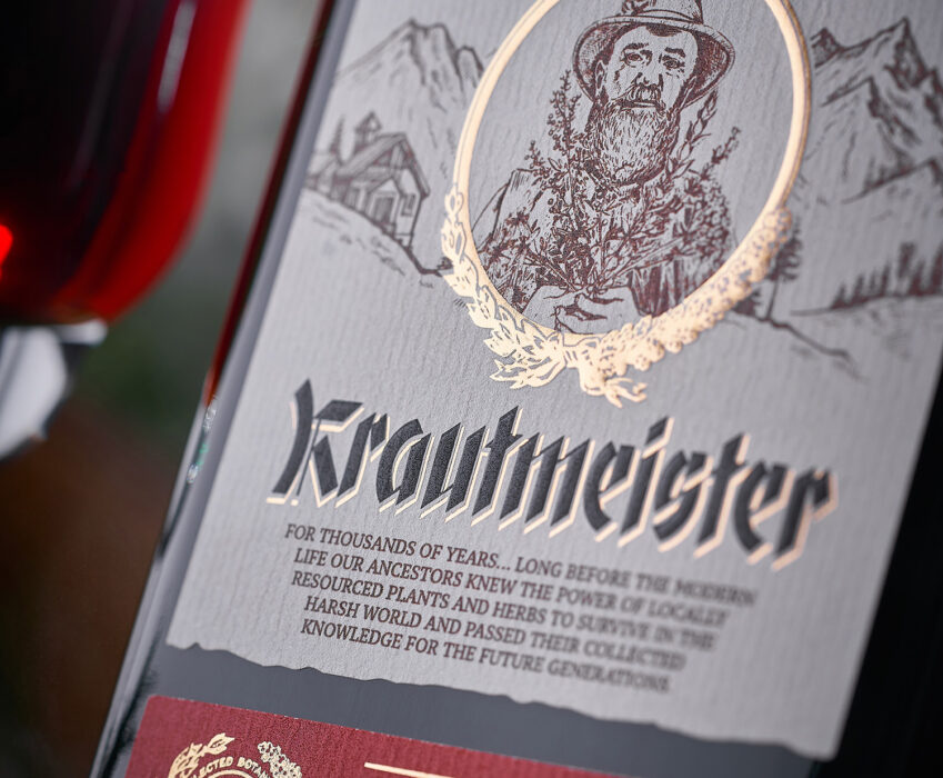 Herbal Liqueur Label Design - Krautmeister