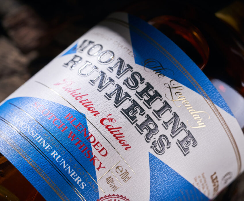 Scotch Whiskey Label Design - Moonshine Runners