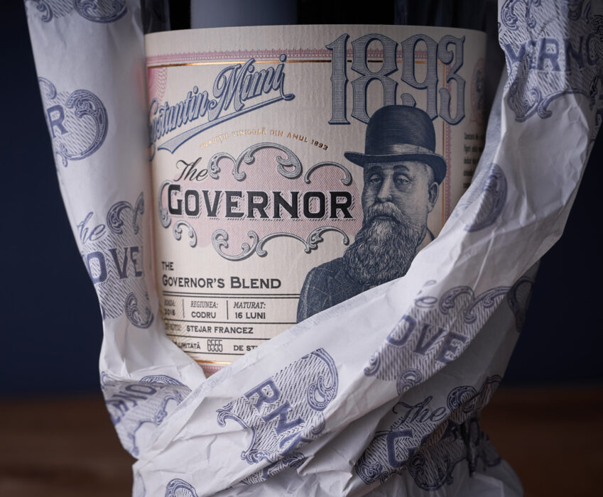 Premium Wine Label Design - The Governor