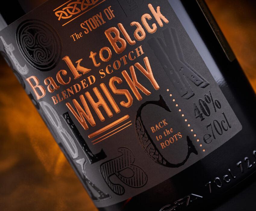 Blended Scotch Label Design - Back to Black