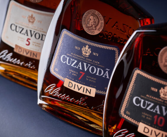 Brandy Bottle and Label Design - Cuza Voda